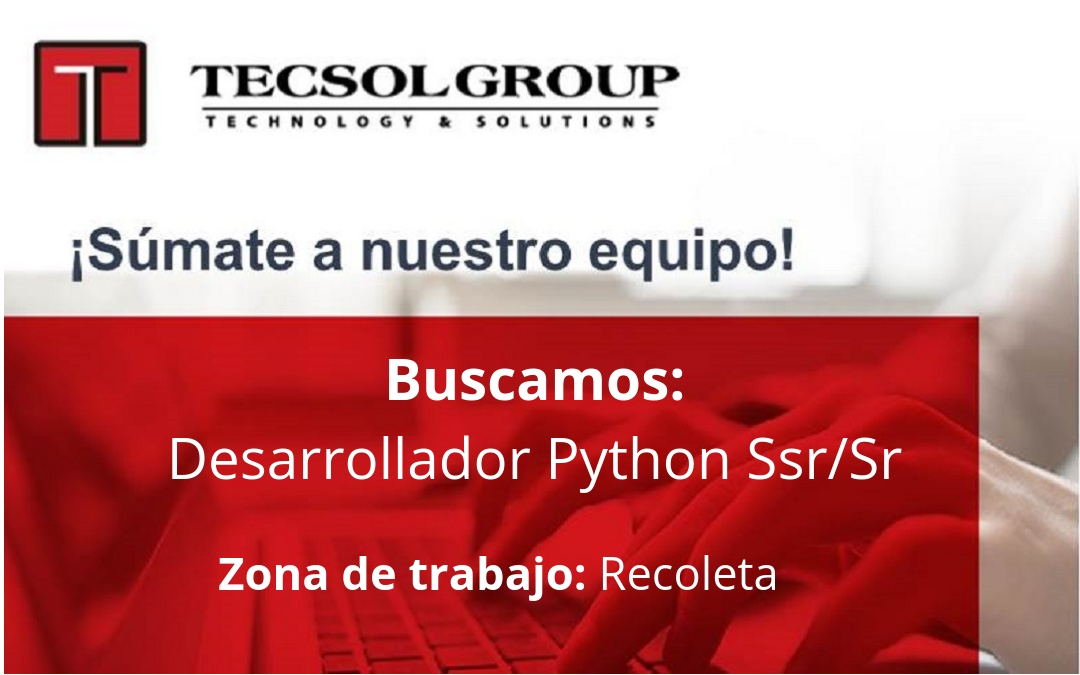 Python Developer Ssr/Sr