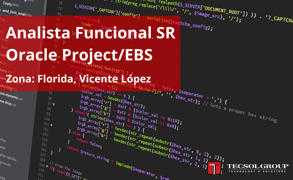 Analista Funcional SR Oracle Project/EBS