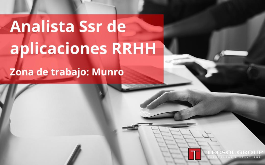 Analista SSr Aplicaciones RRHH