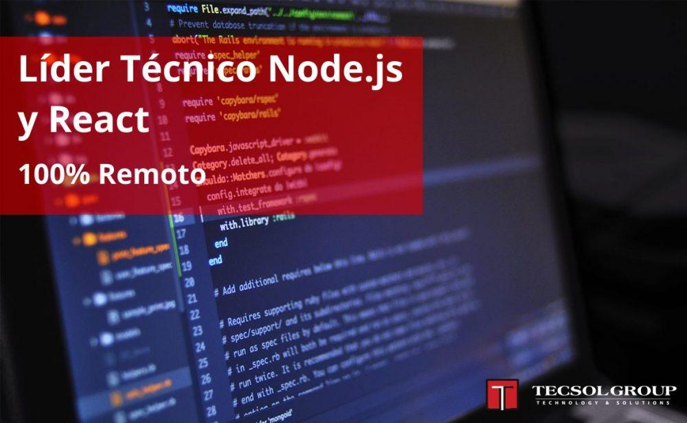 Líder Técnico Node.js y React