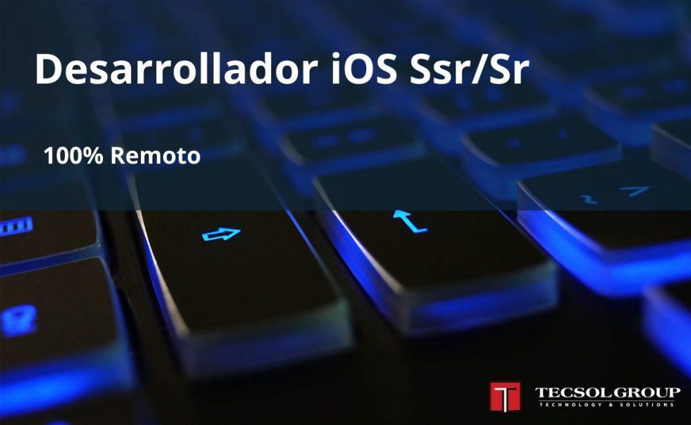 Desarrollador iOS Ssr/Sr