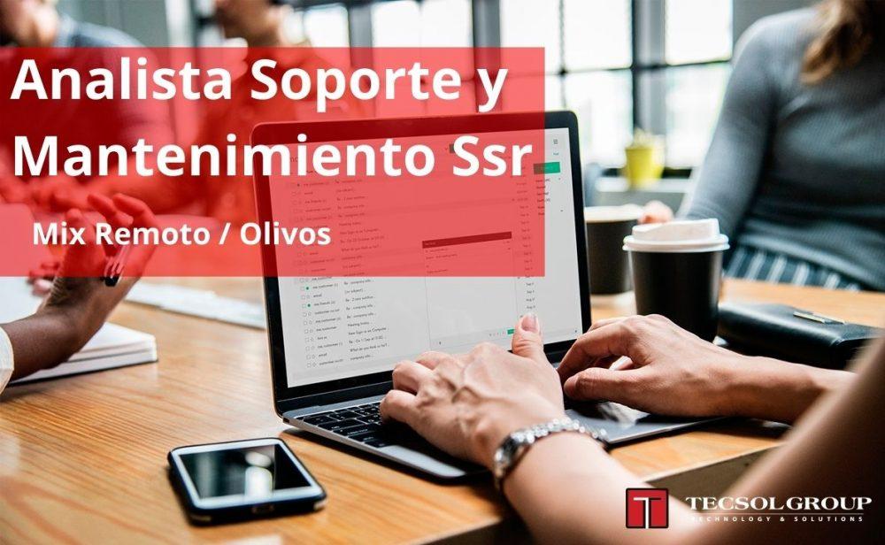 Analista Soporte y Mantenimiento Ssr