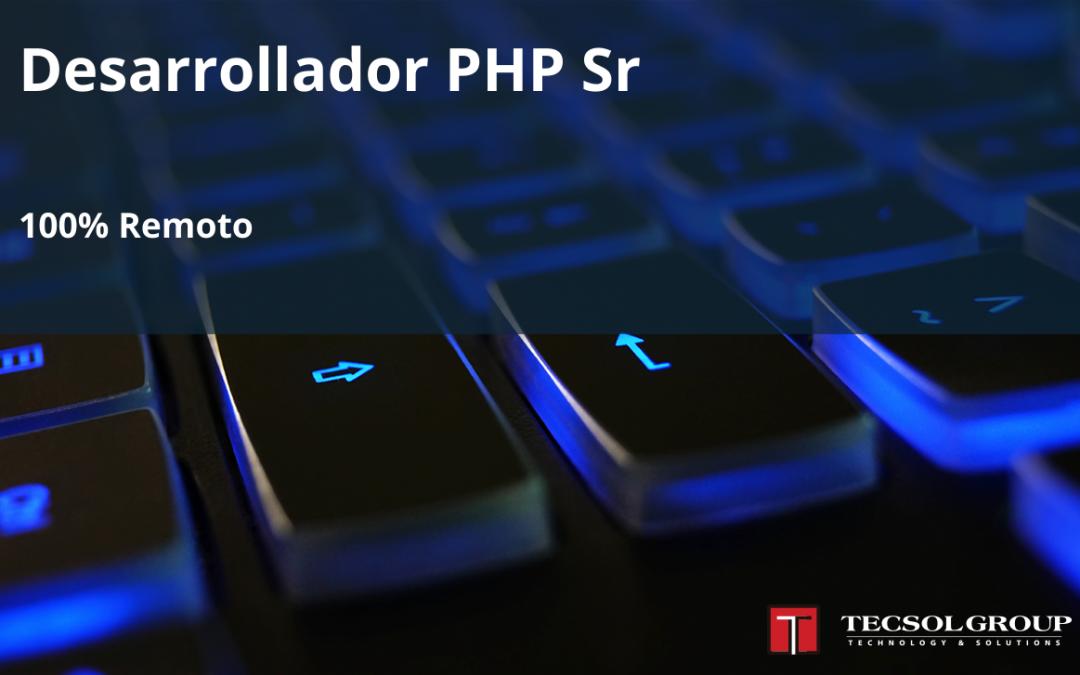 Desarrollador PHP Sr