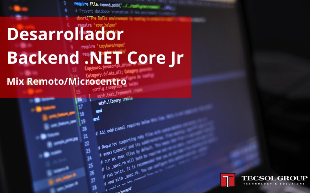 Desarrollador Backend .NET Core Jr.